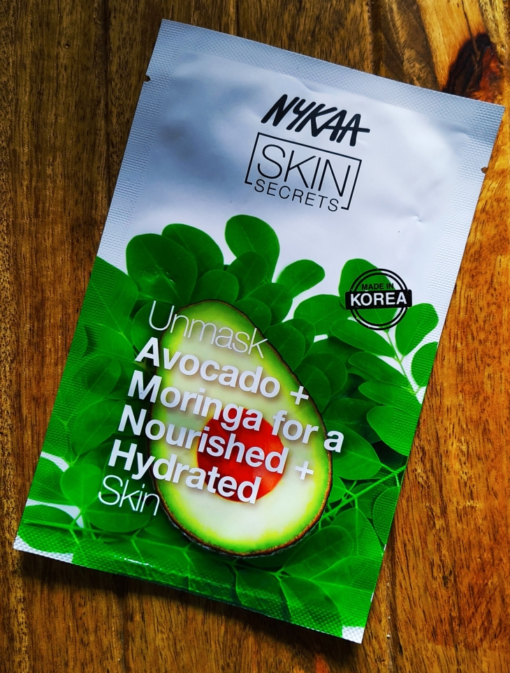 Nykaa-Skin-Secret-Sheet-Mask-Avocado-+-Moring-Review-Unsponsored